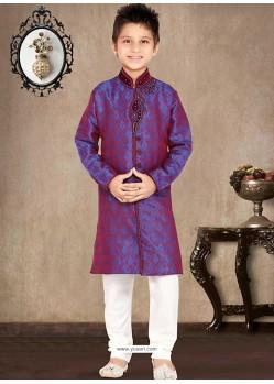 Stunning Pinkish Blue Sherwani