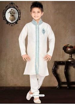 Awesome White Churidar Sherwani
