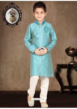 Astonishing Blue Art Silk Sherwani