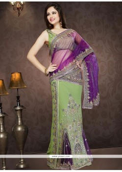Princely Embroidered Work Faux Georgette Lehenga Saree