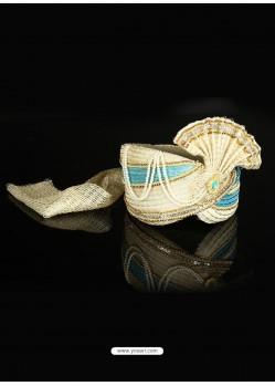 Awesome Cream Net Wedding Turban