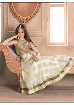 Golden Banarasi N Brocade Skirt Top