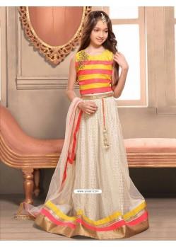 Classy Yellow N Pink Bhagalpori Silk Dress