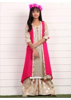 Stunning Pink Georgette Dress