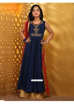 Astonishing Blue Taffera Silk Dress