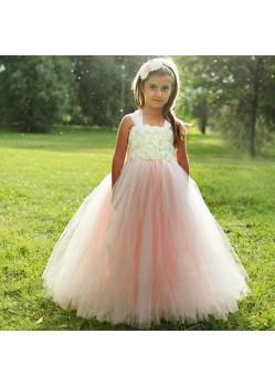 Scintillating Cream Floor Length Gown