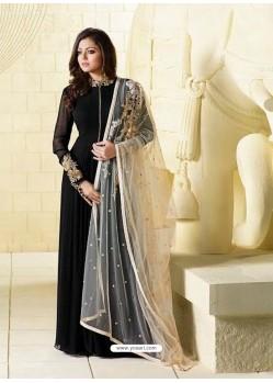 Invaluable Resham Work Tafeta Silk Maroon Floor Length Anarkali Suit