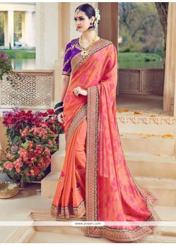 Classy Embroidered Work Designer Traditional Saree