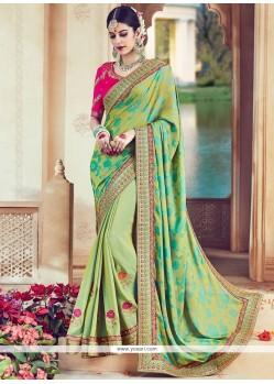 Tantalizing Art Silk Patch Border Work Designer Traditional Saree