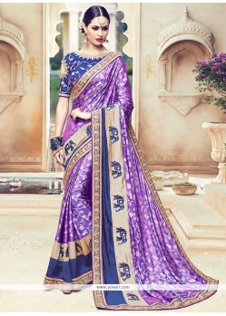 Majestic Art Silk Embroidered Work Traditional Designer Saree