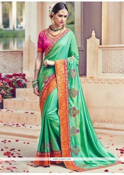 Enthralling Green Traditional Designer Saree