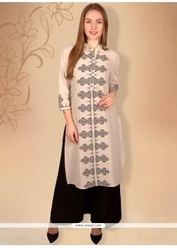 Stylish Cotton Print Work Casual Kurti