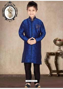 Ethnic Royal Blue Churidar Sherwani