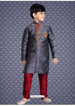 Classy Blue Banarasi Silk Kurta