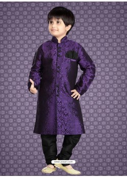 Flattering Purple Party Wear Kurta