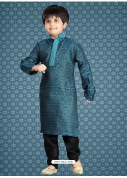 Excellent Blue Readymade Kurta