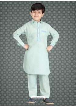 Groovy Green Churidar Kurta