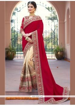Sensible Fancy Fabric Patch Border Work Designer Bridal Sarees