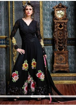 Amazing Embroidered Work Pure Georgette Anarkali Salwar Suit