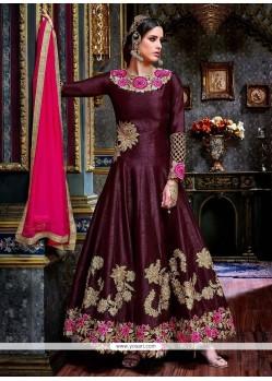 Deserving Resham Work Anarkali Suit