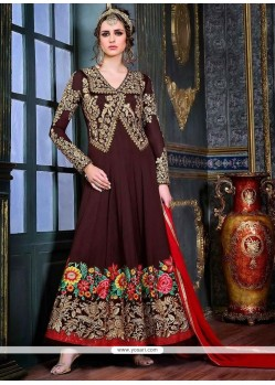 Attractive Pure Georgette Anarkali Suit