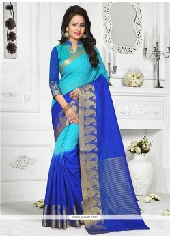 Exceptional Print Work Cotton Casual Saree