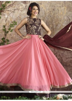 Intrinsic Pink Georgette Anarkali Salwar Suit