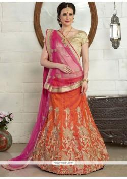 Ravishing Art Silk Resham Work A Line Lehenga Choli