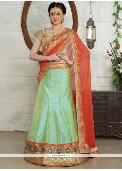 Unique Resham Work A Line Lehenga Choli