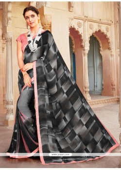 Gleaming Georgette Casual Saree