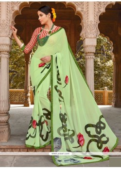 Staggering Georgette Green Casual Saree