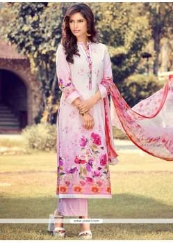 Gratifying Digital Print Work Pink Designer Palazzo Suit