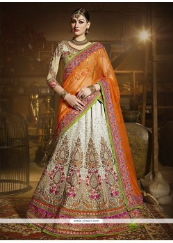 Elegant Art Silk Embroidered Work A Line Lehenga Choli