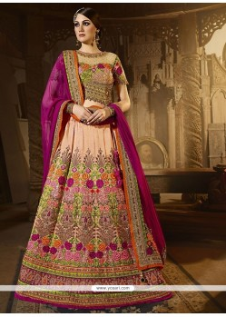 Prepossessing Beige A Line Lehenga Choli