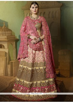 Incredible Pink A Line Lehenga Choli