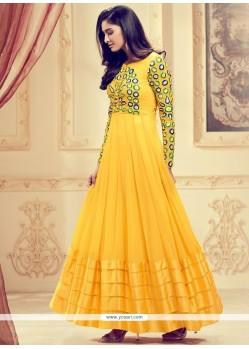Compelling Resham Work Anarkali Suit