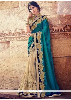 Intriguing Fancy Fabric Half N Half Designer Saree