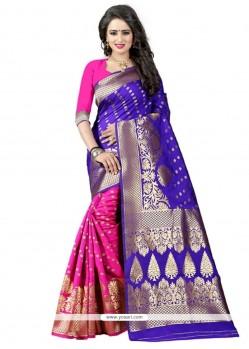 Cute Weaving Work Banarasi Silk Traditional Designer Saree