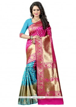 Latest Banarasi Silk Weaving Work Traditional Designer Saree