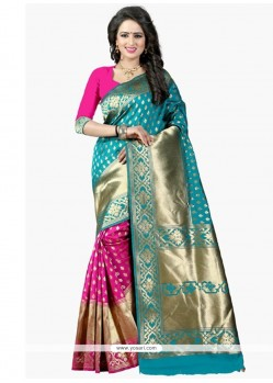 Lovable Hot Pink Designer Traditional Saree