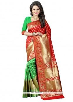 Intricate Banarasi Silk Traditional Saree