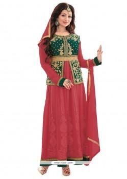 Ayesha Takia Red Anarkali Salwar Suit