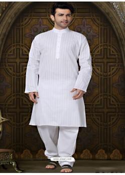Cotton Designer Kurta With Aligarhi