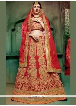 Exotic Red Art Silk Lehenga Choli