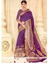 Modish Tussar Silk Purple Traditional Saree