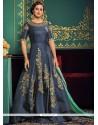Beckoning Zari Work Floor Length Designer Suit