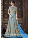 Masterly Embroidered Work Net Floor Length Anarkali Suit