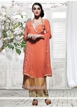 Genius Orange Designer Palazzo Suit