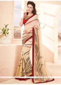 Congenial Faux Georgette Printed Saree
