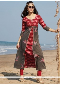 Prime Red Party Wear Kurti